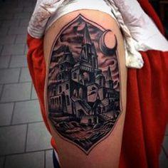 Medieval Castle Arm Tattoo