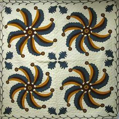 Princess Feather Quilt, about 1850-1855, cotton. Probably made by Mary Mize (American, born about 1834)
