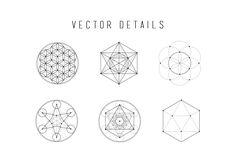 Sacred Geometry Vector Set Vol. 1 by skyboxcreative on Creative Market