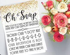 Printable Unplugged Wedding Sign Printable by GlamazonGraphics