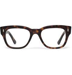 Cutler and Gross Tortoiseshell Semi-square Optical Glasses