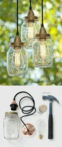 inexpensive lighting using edison bulbs, lighting, outdoor living, In a Mason Jar of course