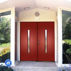 crestview double doors probably in black or a dark wood