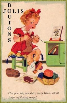 """Jolis Butons (""""Pretty Buttons"""") ~ French button card"""
