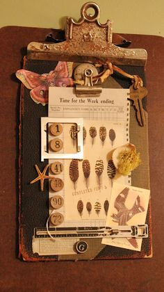 Going to put my clipboard outdoors to age like this!  So cool!