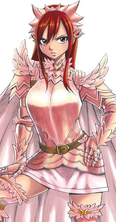 by bloomsama.deviantart.com on @deviantART < Erza is the only one who could make frilly pink armor look menacing.