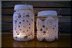 Koronkowe lampiony  <3 #handmade #szydełko #rękodzieło