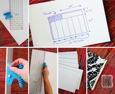 Make your own fabric bolts to store fabric