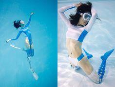manabu koga underwater suichu knee high girls cube japanese models swimsuits
