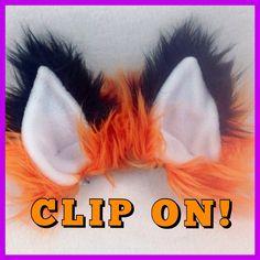 CLIP ON FOX  Ears yopu pick color costume cosplay anime by pawstar