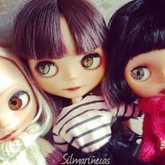 Together: Caty, Amy and Lunnaris. #custom #doll #basaakdolls #basaakdoll #blytheclon | Flickr - Photo Sharing!