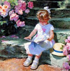 Pinturas al óleo: Niñas   Arte Pinturas al Óleo. Pintor Vladimir Volegov.
