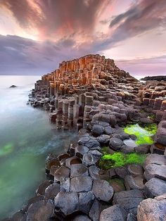 Giant's Causeway - Northern Ireland.  We had to leave, we were there in the middle of a hurricane!  Simply amazing place, however.