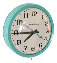 General Electric Vintage School Clock on Chairish.com