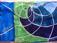 Bufanda de seda pintada a mano