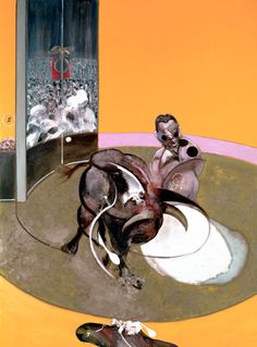 Francis Bacon, Study for Bullfight no 2, 1969 Says God told us to do so and says god is a theft.