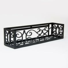 42 Inch Orleans Aluminum Window Box Cage by Windowbox. $211.97. Liner not included-mounting hardware not included. Black Powder Coated Finish. Dependable and Lightweight. Made of cast aluminum. No Iron or Steel Filler Straps. With its modern design, the Orleans Window Box will add a sophisticated touch to any home. It is hand-made from lightweight, powder-coated aluminum that will never rust, peel or fade. Use it to hold individual pots. These beautiful metal wind...