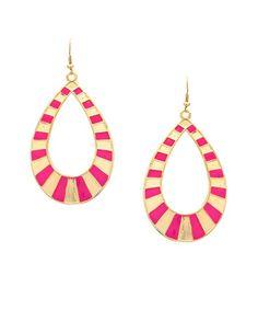 Must-Have Daytime Teardrop Earrings - Fuchsia  $5