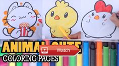 😸 Learn Drawing Coloring Pages Animals baby CHICK ROOSTER And CAT Teach Coloring Pages for Kids 😹 Learn Drawing Coloring Pages Animals baby…