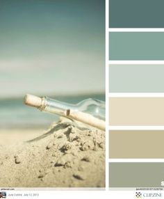 "Relaxing Colors Custom A Pinner Said ""colour Scheme  Seafoam Green Champagne Rustic Inspiration"