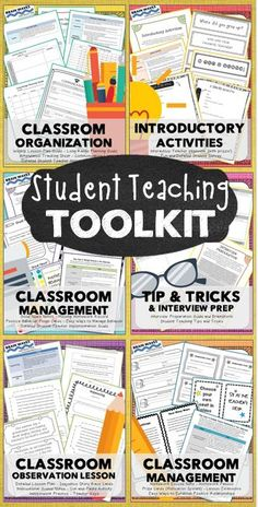 Calling all student teachers and supervising teachers...this resource is made especially for YOU! The Student Teaching Toolkit is filled with everything a student teacher needs to have a successful student teaching experience... • Classroom Management Resources and Systems • Classroom Organization Tracking Forms • Introductory Activities • A Complete Classroom Observation Lesson • Interview Preparation Guide • Tips and Tricks for Successfully Student Teaching