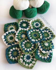 Farklı renkler denememe vesile olan müşteri candır...  🌿💚🐦🍀  #battaniyekit  #hazirmotif  #crochetbutikkitleri