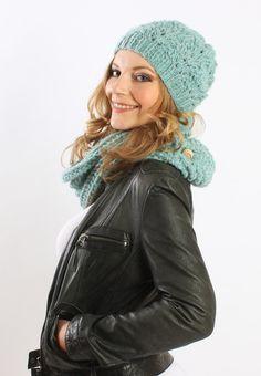 Strickmützen - Alpaka-Mütze mit Ajourmuster Wintermütze - ein Designerstück von amjasnet bei DaWanda