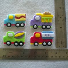 Its made by myself. This is a set of 4 (four) pcs truck which is great for scrapbooking, cardmaking, hairclip or other hair accessories,