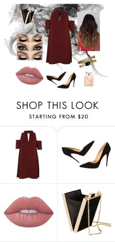 """""""Night out"""" by rebeccaball37 on Polyvore featuring Topshop, Christian Louboutin, Lime Crime, H&M and Chanel"""