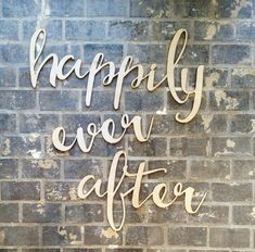 happily ever after - Wedding & Party Decor - calligraphy hanging sign