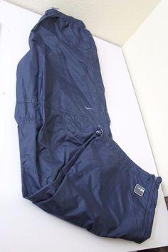 nike men  pants (XXL) blue 100% nylon pre-owned EUC #Nike