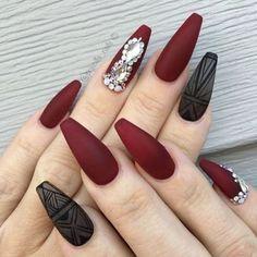 35 Maroon Nails Designs Nail Art Pinterest Nails Nail Designs