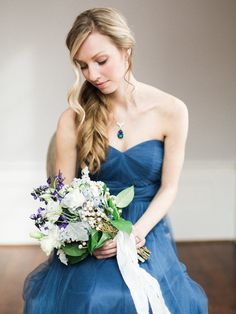 Blue + Metallic Wedding Inspiration Shoot | Style Me Pretty | Live View Studios @liveviewstudios | Amy Lynne Originals @amylynneo | Michelle Wright Events