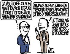 Jean Tirole prix Nobel d'économie http://undessinparjour.wordpress.com/2014/10/13/un-autre-prix-nobel-francais/