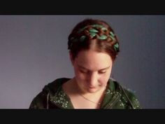 How to create Renaissance Heidi Braids, an absolutely  gorgeous hairstyle that can be accomplished with a scarf, ribbon, or even a string of beads! OK, so it's not totally period accurate, but it is pretty.