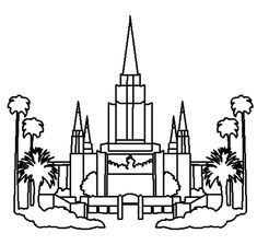 Salt Lake City Temple Coloring Page Printable Coloring Pages For