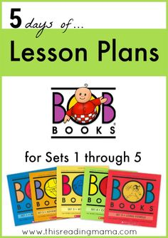 FREE Lesson Plans for the BOB Books {Set 1-5}  | This Reading Mama