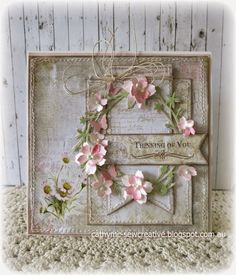 Sew Creative: Meg's Garden ~ The Forgotten Meadows Collection ~ Card Tags, I Card, Flower Cards, Paper Flowers, Shabby Chic Cards, Beautiful Handmade Cards, Paper Artist, Heartfelt Creations, Pretty Cards