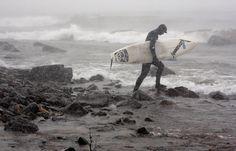 Lake Superior-Duluth, MN Surfing..