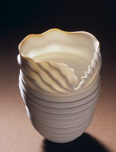 Ceramics by Rolf Bartz at Studiopottery.co.uk - 2006, Seashell study 2-001 Height 13cm. Width 11cm.