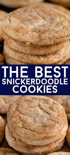 These are the BEST Snickerdoodles Cookies recipe! They& easy, soft and chewy and the perfect recipe. Make these into snickerdoodle bars too! No chill time and you can eat cookies in under 30 minutes - everyone loves this snickerdoodle recipe. Perfect Snickerdoodle Recipe, Best Snickerdoodle Cookies, Recipe For Snickerdoodles, Baking Recipes, Dessert Recipes, Quick Cookie Recipes, Simple Cookie Recipe, Dessert Food, Kitchen Recipes