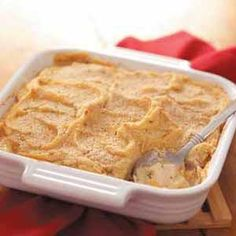 Chicken Potato Casserole Recipe -This savory, satisfying casserole from Kersten Campbell of Pullman, Washington is real comfort food that freezes so well. Thaw it in the fridge overnight then pop it into the oven when you get home the next day for a super-easy supper.