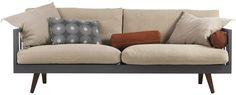 soffa, träsoffa rak, norrgavel