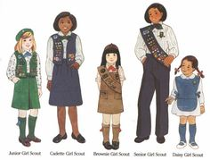 I wore the Daisy, Brownie and Junior uniforms. I loved being a Girl Scout!  <3 Troop #773