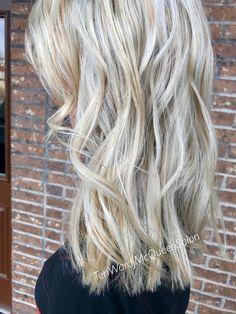 Blonde hair. Cool blonde hilights by Teri Ward Cincinnati 478-3570