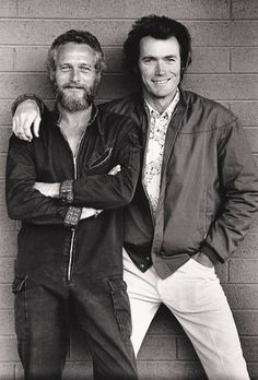 Paul Newman (scruffy?!) and Clint Eastwood.  I've never wanted to squeeze between two men so much in my entire life.