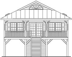 Coastal Home Plans - Gulfport Harbor 1160