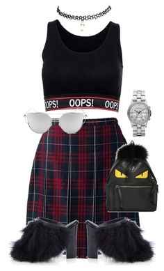 """""""Opps"""" by believeindiamonds on Polyvore featuring Lands' End, Fendi, TIBI, Wet Seal, Marc by Marc Jacobs and Chicnova Fashion"""