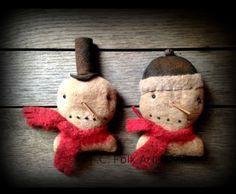 Snowman Head Ornaments - T.F.C. Folk Art
