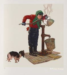 Norman Rockwell Print - The Cold